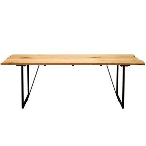 ダイニングテーブル サイズオーダー VIRGIN-SPEC. フルオーダーシステムテーブル 幅161〜200×奥行80cm メープル無垢材|atease