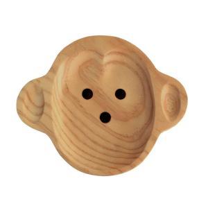 食器 プレート 子供用 ベビー用 木製 皿 ランチプレート プチママン トレイ モンキー サル|atease