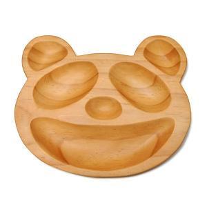食器 プレート 子供用 ベビー用 木製 皿 ランチプレート プチママン トレイ パンダ|atease