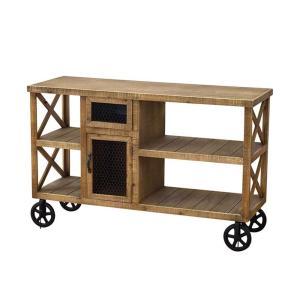 ワゴン トローリー ディスプレイ棚 キッチン 収納 カウンター SPICE ブラウンウッド ワゴンラック 天然木 アンティーク仕上げ ヴィンテージ調 atease