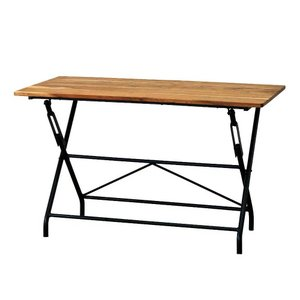 ダイニングテーブル カフェテーブル スパイス ANCIENT フォールディングテーブル 120×60cm 折りたたみ可能 4人用 atease