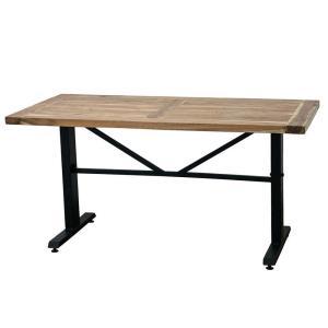 ダイニングテーブル スパイス ANCIENT 150×75cm 長方形 無垢材+スチール 4人用 カフェテーブル ブルックリンスタイル|atease