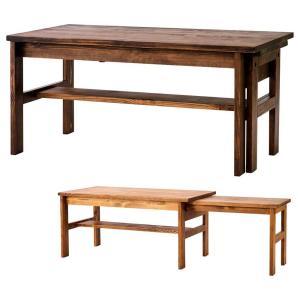 リビングテーブル 伸長式 SOME エクステンションテーブル パイン無垢材 カントリー|atease