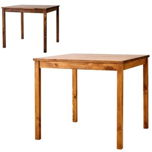 ダイニングテーブル SOME 80×80cm 正方形 パイン無垢材 シンプル カントリー 2人用|atease