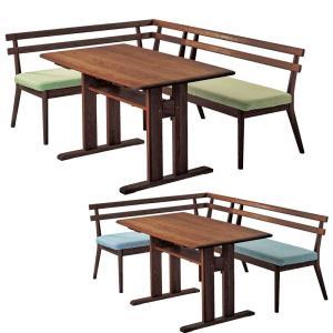SORA LD コーナー3点セット(ベンチ+カウチ+テーブル) 【ブラウン】 オーク無垢材・カバーリングタイプ|atease