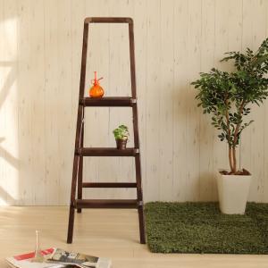 軽量脚立 踏み台 木目柄 アルミ製ステップスツール 3段 Giraffe|atease