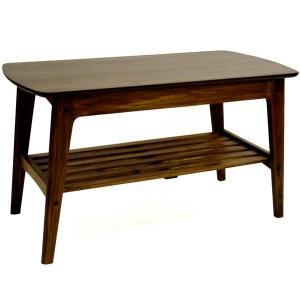 リビングテーブル センターテーブル ROSIE 90cm幅 ウォールナット 北欧モダン|atease