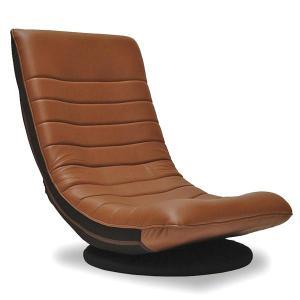 座椅子 リラックスチェア WALTZ バケットシートタイプ PUレザー リクライニング 回転機能付|atease