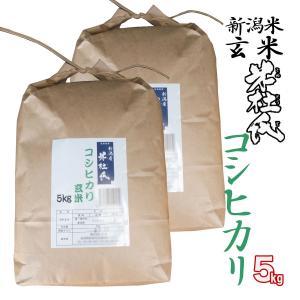 玄米10kg 新潟産コシヒカリ 米杜氏 環境保全 契約 栽培米 (新潟米 お米 令和元年産 R1)|atechigo