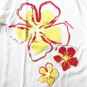 七分袖 フラTシャツ ハイビスカス プリント ブラック M L LL 3L 送料無料 クリックポスト ハワイアンプリント フラダンス 7分袖|atelier-ayumi|03