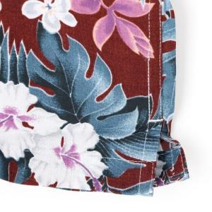メンズアロハシャツレーヨン モンステラハイビスカス M/L/LLサイズ レーヨン100% ハワイアンフラワープリント 花柄|atelier-ayumi|05