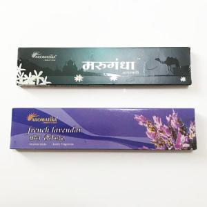 インドのお香 アロマ スティック タイプ 2種セット 〈フレンチラベンダー/マルガンダ 〉インセンス スクエア ボックス インド香 雑貨 香り アロマティカ atelier-ayumi