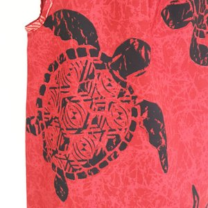 キャミソールワンピースドレス ホヌ&タパ柄〈レッド〉【送料無料_クリックポスト】ハワイアンファブリック Made in JAPAN日本製|atelier-ayumi|03