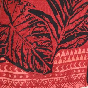 キャミソールワンピースドレス ホヌ&タパ柄〈レッド〉【送料無料_クリックポスト】ハワイアンファブリック Made in JAPAN日本製|atelier-ayumi|04