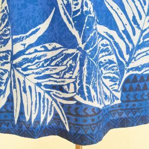 キャミソールワンピースドレス ホヌ&タパ柄〈ブルー〉【送料無料_クリックポスト】ハワイアンファブリック Made in JAPAN日本製|atelier-ayumi|04