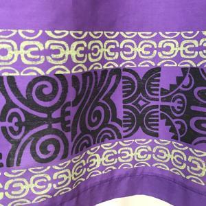 キャミソールワンピースドレス タパ柄ボーダー〈パープル〉【送料無料_クリックポスト】ハワイアンファブリック Made in JAPAN日本製|atelier-ayumi|03