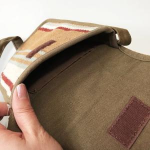 インド製 ショルダーバッグ〈 ネイビー / ブラウン 〉  送料無料 メール便  マルチストライプ シンプル ショルダー BAG エスニック ポーチ atelier-ayumi 04