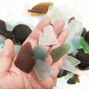 ビーチグラス ( シーグラス )400g アソートカラー 天然素材 海の宝石 送料無料 ハワイアン雑貨 手づくり雑貨 ハンドメイド ガラス工芸 マリン雑貨|atelier-ayumi