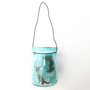 シーグラス 小粒 100g入りガラスの小瓶〈ブルー〉ブルークレール ワイヤーカップ  天然素材 海の宝石 ビーチグラス  ハワイアン雑貨  マリン雑貨|atelier-ayumi|02