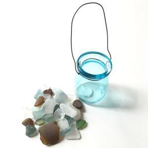 シーグラス 小粒 100g入りガラスの小瓶〈ブルー〉ブルークレール ワイヤーカップ  天然素材 海の宝石 ビーチグラス  ハワイアン雑貨  マリン雑貨|atelier-ayumi|03