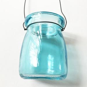 シーグラス 小粒 100g入りガラスの小瓶〈ブルー〉ブルークレール ワイヤーカップ  天然素材 海の宝石 ビーチグラス  ハワイアン雑貨  マリン雑貨|atelier-ayumi|05