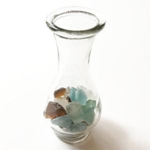 小粒シーグラス 100g入りガラスの花瓶 〈クリア〉天然素材 海の宝石 ビーチグラス  ハワイアン雑貨  マリン雑貨 NO.2 CLEAR|atelier-ayumi