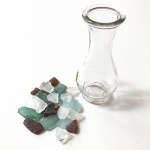 小粒シーグラス 100g入りガラスの花瓶 〈クリア〉天然素材 海の宝石 ビーチグラス  ハワイアン雑貨  マリン雑貨 NO.2 CLEAR|atelier-ayumi|02