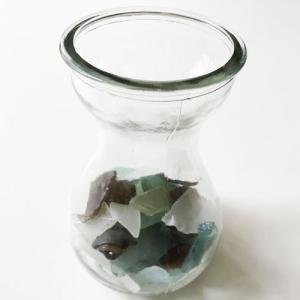 大きめシーグラス 200g入りガラスの花瓶 〈クリア〉天然素材 海の宝石 ビーチグラス  ハワイアン雑貨  マリン雑貨 NO.4 CLEAR|atelier-ayumi|02