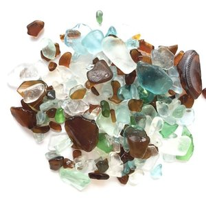 小粒シーグラス ガラス コルクミニボトル〈クリア〉 ガラスの小瓶 天然素材 海の宝石 ビーチグラス ハワイアン雑貨 マリン雑貨|atelier-ayumi|03