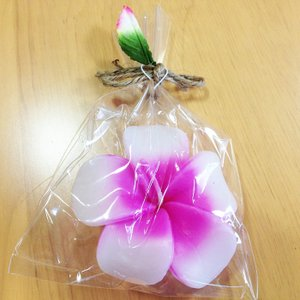 フローティング プルメリア キャンドル 〈ピンク〉ハワイアン雑貨 アジアン雑貨 フランジパニ インテリア 水に浮かぶ ろうそく|atelier-ayumi