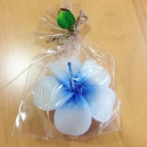 フローティング プルメリア キャンドル 〈ブルー〉ハワイアン雑貨 アジアン雑貨 フランジパニ インテリア 水に浮かぶ ろうそく|atelier-ayumi