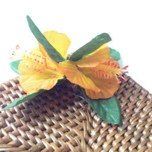 ラタン コースター スクエア ハイビスカス 〈オレンジ〉 クリックポスト レターパックライト対応可能 ハワイアン雑貨|atelier-ayumi|02