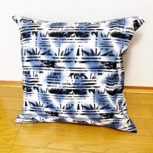 ハワイアン クッションカバー ハイビスカス 大柄〈ショッキング ピンク〉 45cm×45cm クリックポスト 対応可能|atelier-ayumi