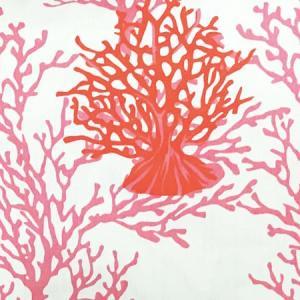 ハワイアン クッションカバー コーラルリーフ(サンゴ柄)〈ホワイト&サーモンピンク〉 45cm×45cm メール便対応可能 ハワイアンファブリック|atelier-ayumi|04