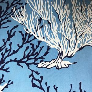 ハワイアン クッションカバー コーラルリーフ(サンゴ柄)〈 ブルー 〉 45cm×45cm メール便対応可能 ハワイアンファブリック|atelier-ayumi|04