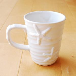 ヒトデ柄マグカップ〈ブルー/ホワイト〉ハワイアンマグカップ マリングッズ スターフィッシュ ハワイアン雑貨 キッチン雑貨|atelier-ayumi