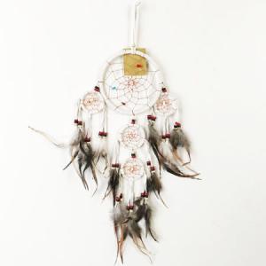 アウトレット カラフル レインボー ドリームキャッチャー〈きのこ マッシュルーム〉 ネイティブ アメリカン 虹色 ハワイアン雑貨 インテリア雑貨 キノコ|atelier-ayumi