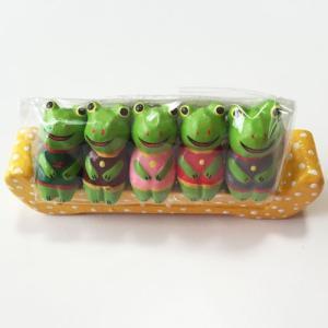 お座り ベンチ カエル S 5匹〈グリーン〉バリ木彫り アジアン雑貨 バリ雑貨 アニマル木彫り 置物 オブジェ ソファ かえる 蛙|atelier-ayumi
