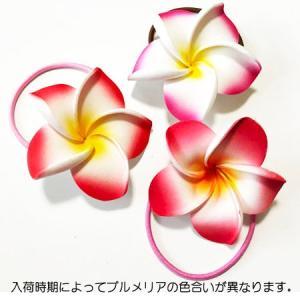 プルメリア へアーゴム 同色2個組み ヘアーアクセサリー ハワイアンアクセ クリックポスト対応可能 ヘアゴム ヘアーゴム ヘアアクセ|atelier-ayumi|05