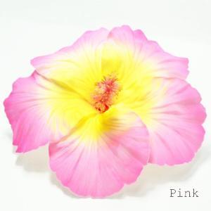 ハイビスカスへアークリップ(L)〈ピンク〉ヘアーピン ハワイアンフラダンスアクセ コサージュ 髪飾り|atelier-ayumi