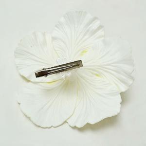 ハイビスカスへアークリップ(L)〈ピンク〉ヘアーピン ハワイアンフラダンスアクセ コサージュ 髪飾り|atelier-ayumi|02