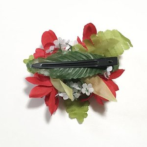 チュベローズ ヘアクリップ レッド ヘアーピン ハワイアンフラダンスアクセ ヘアアクセ ヘアピン フラダンスに〜|atelier-ayumi|02