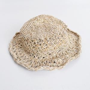 ワイヤー入り ヘンプハット 透かし編み〈ナチュラル ベージュ〉 送料無料 メール便 自然素材帽子 ネパール製 ナチュラルリゾート エスニックハット|atelier-ayumi