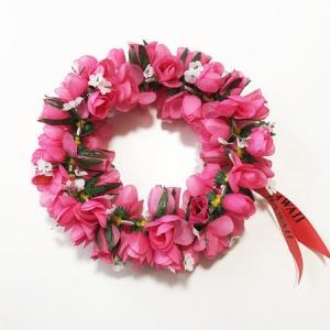 ロケラニ ヘッドバンド ピンク ハワイアン ハクレイ フラガール 花冠 フラダンスレイ ハワイアンレイ フラワーレイ ハワイアンウエディング atelier-ayumi