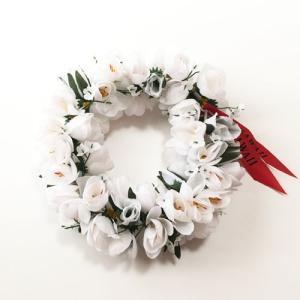 ロケラニ ヘッドバンド ホワイト ハワイアン ヘッドバンド  クリックポスト対応可能 ハワイアンレイ フラワー レイ フラガール 花冠 ハクレイ atelier-ayumi