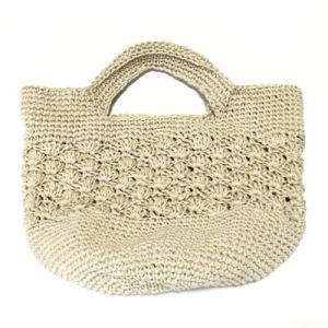 手編みヘンプバッグ ハンドバッグ〈ナチュラル〉カゴバッグ 送料無料 クリックポスト 大麻(桑科) 手づくり かごバッグ|atelier-ayumi|02