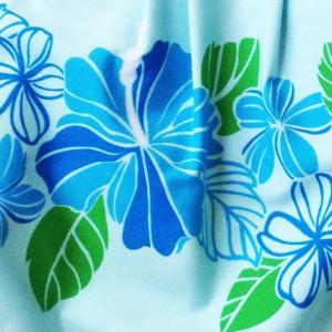 ハワイアングラニーバッグ Lサイズ ハイビスカス〈ブルー〉【クリックポスト送料無料】オリジナルハンドメイド|atelier-ayumi|02