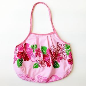 ハワイアングラニーバッグ Lサイズ ハイビスカス〈ピンク 〉【クリックポスト送料無料】オリジナルハンドメイド|atelier-ayumi