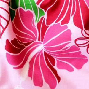 ハワイアングラニーバッグ Lサイズ ハイビスカス〈ピンク 〉【クリックポスト送料無料】オリジナルハンドメイド|atelier-ayumi|03