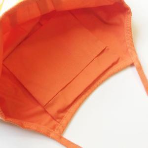 ハワイアングラニーバッグ Lサイズ グラデーションモンステラ〈オレンジイエロー〉【クリックポスト送料無料】オリジナルハンドメイド|atelier-ayumi|02